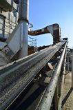 Manufacturing the concrete Royalty Free Stock Photo