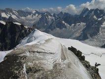 Route trois Monts à Mont Blanc 4810m Photos stock
