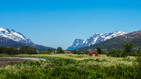Route 862 in Troms, Northern Norway Royalty Free Stock Photography