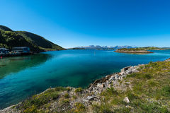 Route 862 in Troms, Northern Norway Royalty Free Stock Image