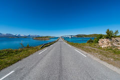 Route 862 in Troms, Northern Norway. Route 862 between Tromso and Sommaroy in Troms, Northern Norway stock photos