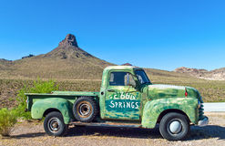 Route 66. U.S.A. Arizona, Cool Springs, an old car of the service station on the Route 66 Stock Photography