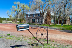 Route 66. U.S.A. Arizona, the old Wagon Wheel Lodge on the Route 66 towards Williams Stock Images