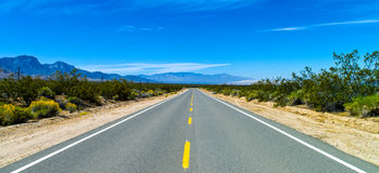 Route 66. U.S.A. California, the Route 66 near the Mojave National Reserve stock photography