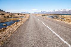 Route, un horizontal de l'Islande Photos stock