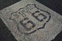 Route 66 undertecknar in nytt - Mexiko Arkivbild