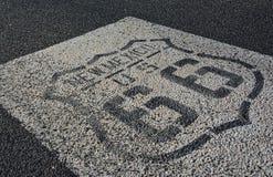 Route 66 undertecknar in nytt - Mexiko Royaltyfri Foto