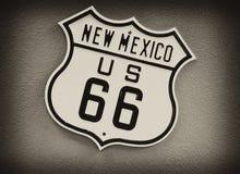 Route 66 undertecknar in nytt - Mexiko Royaltyfri Bild