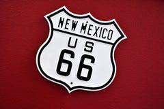 Route 66 undertecknar in nytt - Mexiko Arkivbilder