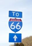 Route 66 undertecknar in Virginia Royaltyfria Foton
