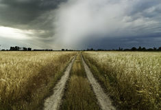 Route à une tempête Images stock