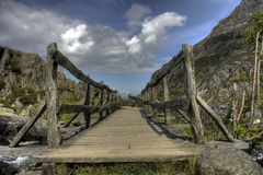 The route up to Cwm Idwal Royalty Free Stock Photography