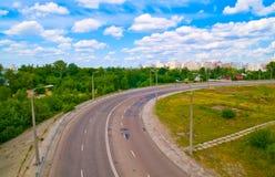 Route urbaine. Images stock