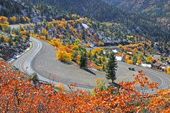 Route 550. US route 550 ,Also known as Million dollar highway in Colorado Royalty Free Stock Photos