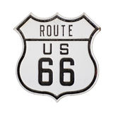Route 66. US route 66 highway sign with Clipping Path Royalty Free Stock Photo