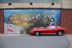 Route 66 väggmålning, Joplin, MO Arkivfoton