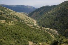 Route in vallei Royalty-vrije Stock Afbeeldingen