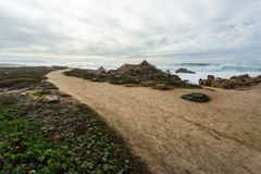 Route 1 van Californië Verenigde Staten stock afbeelding