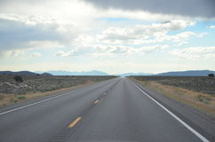 Route 50, Vanishing highway Nevada, July 2015 royalty free stock photography