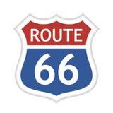 Route 66 -VektorVerkehrsschild stockbild