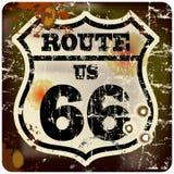 Route 66 -verkeersteken stock illustratie