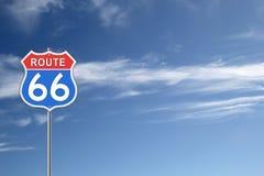 Route 66 verkeersteken Stock Foto's