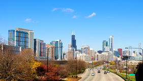 Route vers Chicago photographie stock