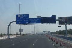 Route vers Dubaï Photos libres de droits