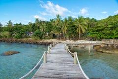 Route vers l'île Photo stock