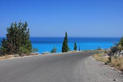 Route vers la mer Photos libres de droits