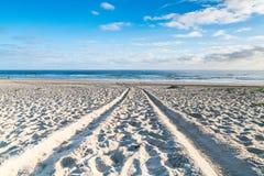 Route vers la mer Images libres de droits