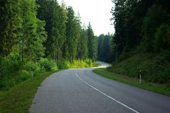 Route vers la Pologne Images libres de droits