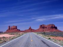 Route vers la vallée de monument Photo libre de droits
