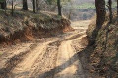 Route vers le fleuve Photos libres de droits