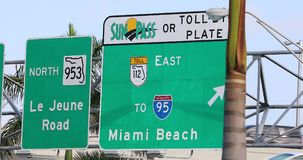 Route vers Miami Beach clips vidéos