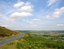 Route vers Yorkshire Photos stock