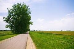 Route vide à l'horizontal rural Images libres de droits