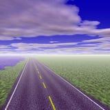 Route vide illustration stock