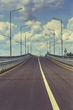Route vide d'omnibus Photos libres de droits