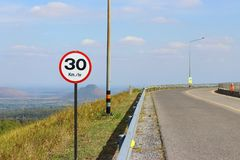 Route vide de panneau routier photo libre de droits