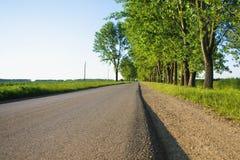 Route vide droite dans l'après-midi Image stock