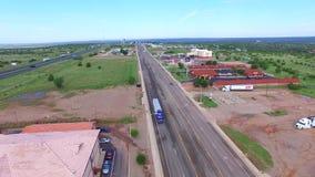 Route 66 visuel aérien banque de vidéos