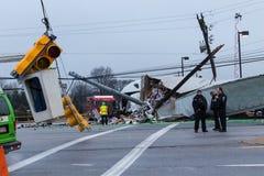 Route 30 Vrachtwagenongeval Stock Fotografie