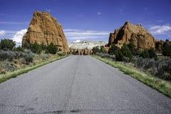 Route vue images libres de droits
