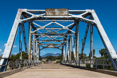 Route 66: Walnut Creek Bridge, Winona, AZ. Walnut Creek Bridge on Route 66, Mt. Taylor in background, Winona, Arizona. National Register of Historic Places Royalty Free Stock Photo