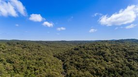 Route of the waterfalls with 14 waterfalls in corupa one of the last areas of the Atlantic forest in Brazil. stock photography