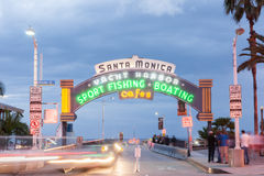 Route 66 The west end, Santa Monica Pier, Los Angeles,California Royalty Free Stock Photo