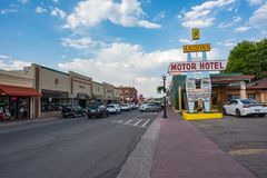 Route 66 in Williams, Arizona Royalty-vrije Stock Fotografie