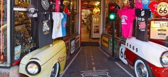 Route 66, Williams, entrata del negozio di regalo Fotografia Stock
