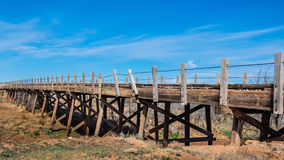 Route 66: Wood Bridge, Endee, NM Royalty Free Stock Images